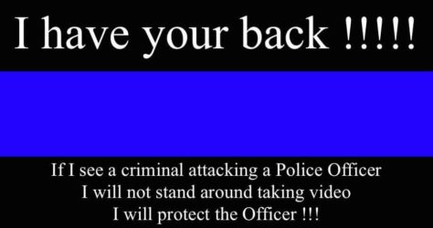 WELL DONE OFFICER (AND BACK-UP)